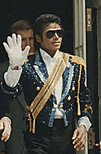 Michael Jackson at White House in 1984