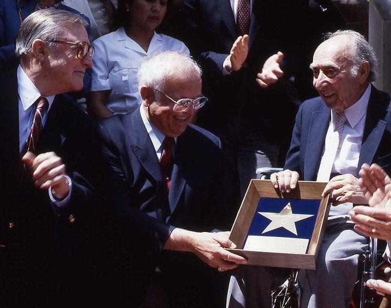 johnny grant presents star to joe pasternak - photo: alan warren