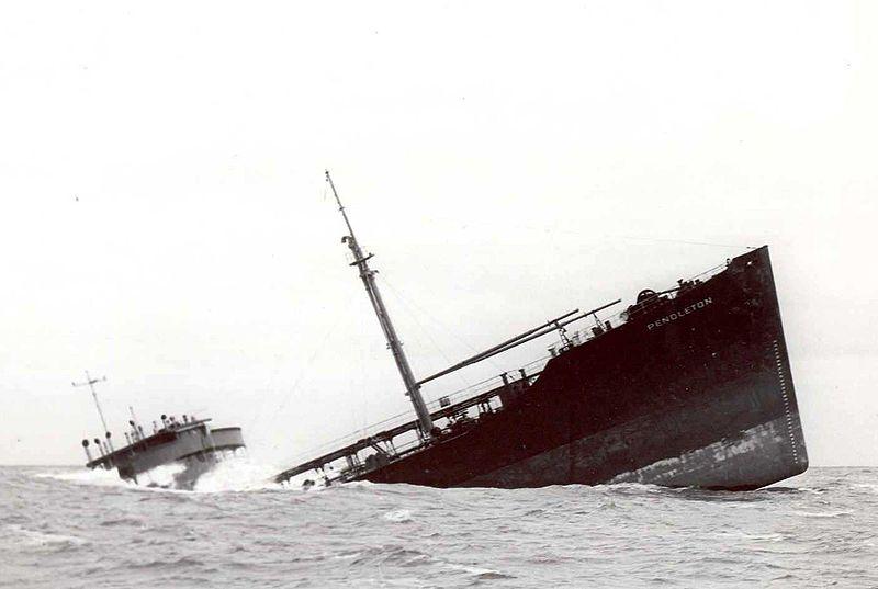 USS Pendleton Sinks